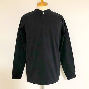 VORTEX Concho Button Henley Neck L/S T-shirts Black
