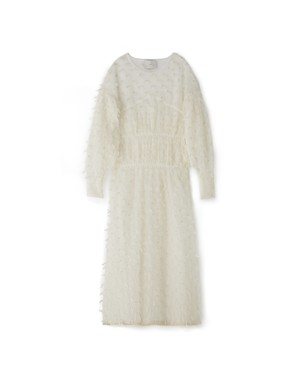 MOHAIR FRINGE ONEPIECE[IVORY]