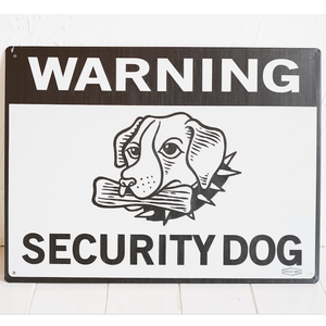 DOGGY BRO.(ドギーブロ)WARNING SECURITY DOG BLACK  サインプレート