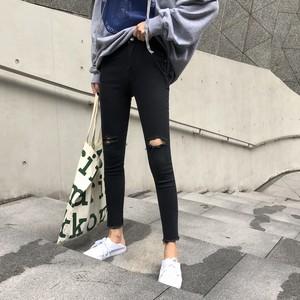 【ボトムス】新作合わせやすいファッション着瘦せハイウエストデニムパンツ