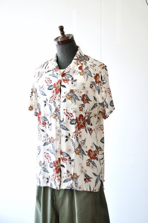 CHLORO SISTER クロロシスター レディース 女性用 アロハシャツ 花柄シャツ レーヨン C301L
