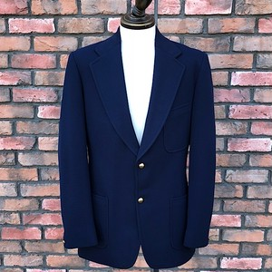 1970s Baronia Tailored By Harding Of Nantwich England Navy Blazer