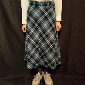 Nep check skirt /Made In DDR [G-337]