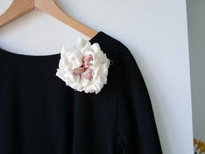 裂織コサージュ・ヘッドドレス『織織花』
