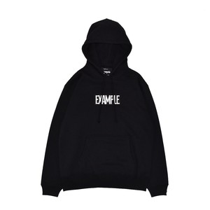 SQUARE EMBROIDERY LOGO HOODIE / BLACK