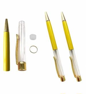 AseiwaA ハーバリウム ボールペン 手作りキット 本体のみ ペン 同色 3本セット (イエロー) B07KLMVSJ7