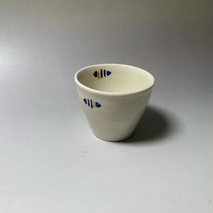 ラインドロップコップ(青) [ 8.5 x 7cm ] 【初秋の赤絵食卓】