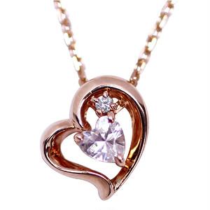 【4月誕生石ダイヤモンド】バースストーンハートネックレス HCP-0335DAPK