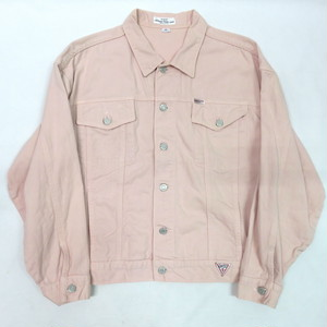90's GUESS PINK DENIM JACKET RARE COLOR made in U.S.A.