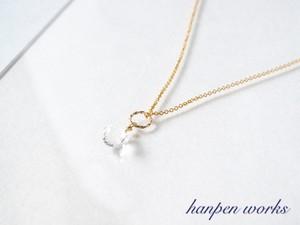 14kgf 宝石質 クリスタル (水晶) 一粒 ネックレス