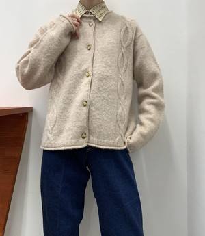 J.JILL wool knit cardigan 【M】