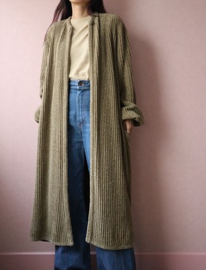 70's dead stock lame mix knit cardigan