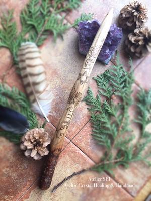 オークの魔法の杖(ワンド)・六芒星のルーン・ウッドワンド