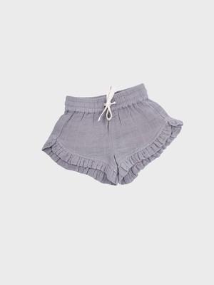 Petit Co. / Isla Frilly Shorts Warm Grey
