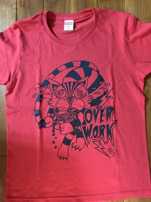 OVER WORK Tシャツ  レッド