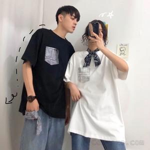 【トップス】無地半袖ラウンドネックTシャツ19492081
