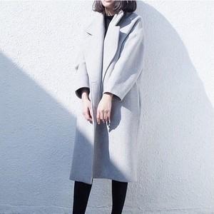 【アウター】ファッションポリエステル通勤キュート切り替えシングルブレストコート24314024