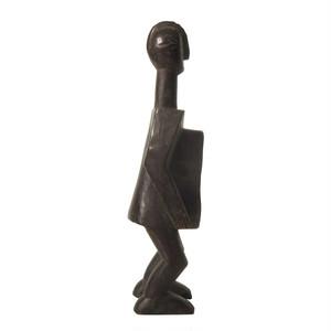 コロ族 椰子酒のための木像 / Koro Gbene Vessel