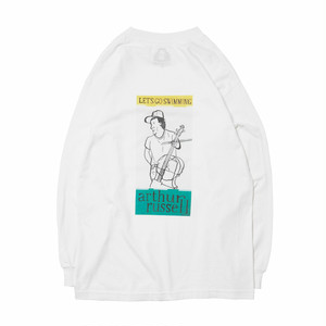 HOLE AND HOLLAND ARTHUR RUSSEL LONG SLEEVE TEE [WHITE]