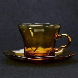 昭和 レトロ アデリア ADELEX 花型 カップ&ソーサー アンバー (164)