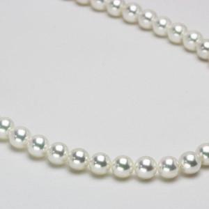 オーロラ花珠真珠ネックレス  K14 ピアス(またはイヤリング)セット  7.0-7.5mm