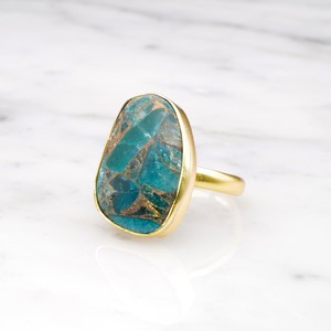 SINGLE BIG STONE RING GOLD 119