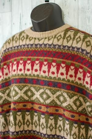 冬の定番!フェアアイル柄ウールセーター RankB☆アメカジファッション