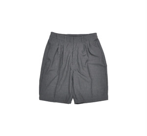 "kelen PIN-TUCK WIDE SHORTS ""Connery"" CHARCOAL"
