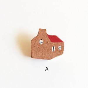 大塚砂織 ブローチ 煙突の家
