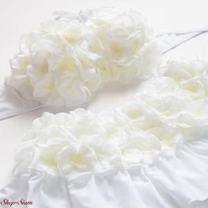 Chuan Pisamai / チュアンピサマイ お花の水着 バンドゥ&スカートタイプ (ホワイトカラー)
