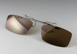レンズ交換可能!超軽量前掛け偏光サングラス/ミドルブラウン