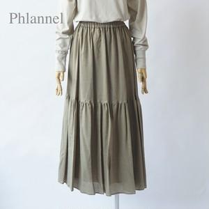 Phlannel/フランネル・Cotton Wool Viyella Tiered Skirt