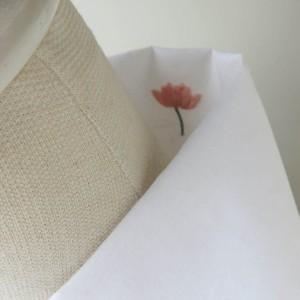 半衿・白半衿のようで蓮の花刺繍(白布)