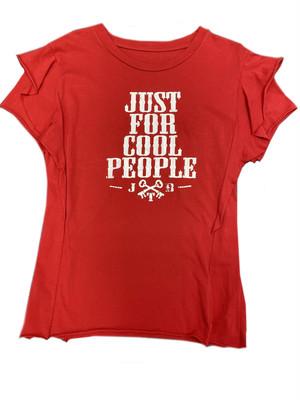 【JTB】 MANICA A STRATI Tシャツ【レッド】【再入荷】イタリアンウェア【送料無料】《W》
