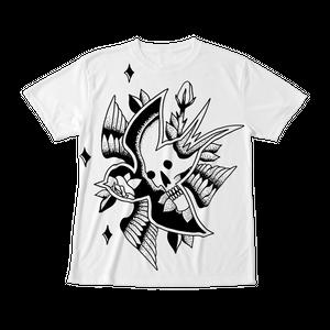 フルグラフィックTシャツ SKULL SWALLOW ホワイト