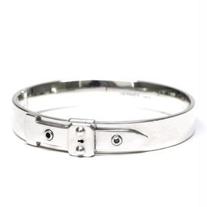Hermès Vintage Belt Motif Sterling Silver Bracelet