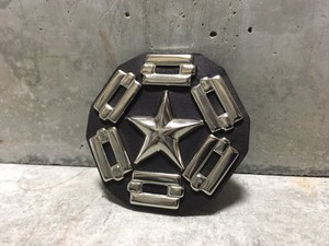 Studded Leather Badge(Star&Chain)