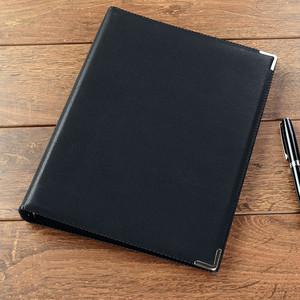 送料無料【メモ帳】合皮 レザー 革 革製/ A5 メモ ビジネス 日記 シンプル オフィス ブラック 黒 合皮