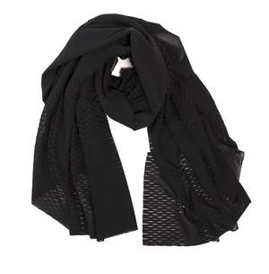 PLAIN CORNICE SCARF プレインコーニススカーフ BLACK 日本製