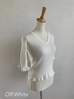 Bilitis dix-sept ans (ビリティス・ディセッタン)     Cotton V neck