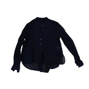 貴陽 Kiyo Heart Blouse - Indigo / MIAO BLUE