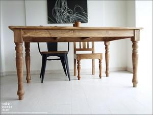 オールドチーク総無垢 ダイニングテーブルLN 食卓テーブル 古材 デスク 手作り 銘木家具 机 シンプル 新品 送料無料 三大銘木 W150×D90cm