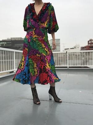 80s Diane freis multi colors dress ( ダイアン フレイス マルチカラー ワンピース )