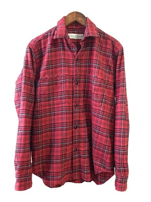 flannel check shirt / red