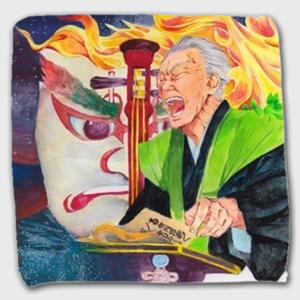 日本の伝統芸能ハンドタオル【文楽01】和雑貨・文楽・歌舞伎