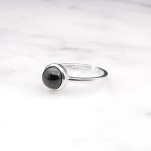 S925 SINGLE MINI BLACK ONYX RING