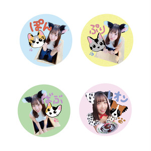 天羽希純缶バッジ(4種セット)【NIG020】