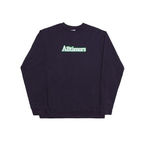 ALLTIMERS / BROADWAY EMBROIDERED CREW -NAVY-
