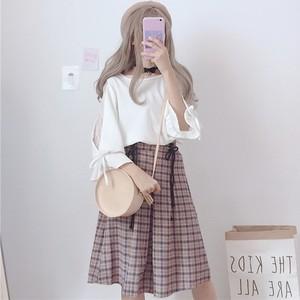 【セットアップ】透かし彫りTシャツ+スカート2点セット