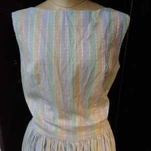Vintage sherbet color stripe dress ヴィンテージ シャーベットカラーストライプ柄ワンピース